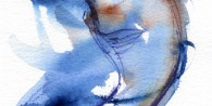 Watercolour of Seal, in blue - Seal 3