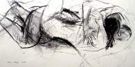 """Skin Deep"" charcoal on paper 2009"