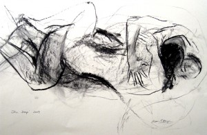 """""""Skin Deep"""" charcoal on paper 2009"""