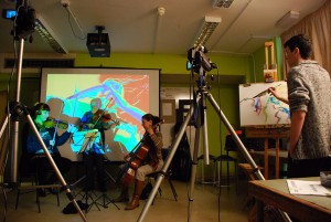 digital projection drawing workshop