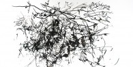 ink on paper - digital projection drawing