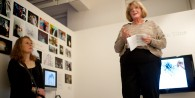 Eileen Adams opens the show 'Shedding Skins'
